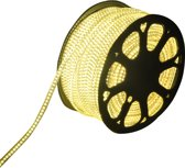 LED Lichtslang 50 meter 3000K warm wit 60 LEDs per meter IP65 incl. netsnoer Plug & Play