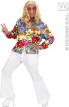 Hippie Kostuum   Hippie Shirt Man   XL   Carnaval kostuum   Verkleedkleding