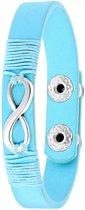Lucardi - Montini - Blauwe byoux armband met infinity bedel