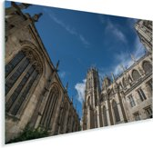 Foto vanaf de binnenplaats van de Kathedraal York Minster Plexiglas 30x20 cm - klein - Foto print op Glas (Plexiglas wanddecoratie)