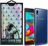 Backcover Anti-Shock TPU + PC voor Samsung A2 Core Transparant