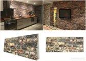4X 3D Wanddecoratie Wandpanelen  Muurdecoratie, Muur bekleding, Baksteen Barok, Natuurteen, Steenstrips