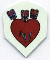 Harrows Holographic 3 Darts in Heart (OP=OP)  Set à 3 stuks