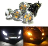 23MM LED - DUO COLOR - Eagle Eye - amber / wit - Waterproof - aluminium
