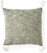 Riviera Maison Tassel Treasure Pillow Cover- Kussenhoes - 50x50 cm - Grey