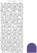 Sticker Charm ABC - Mirror Paars