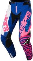Alpinestars Crossbroek Techstar Venom Blue/Fluor Pink/White-38
