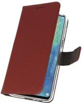 Huawei Mate 20 X Bruin | Wallet Case Hoesje  | WN™