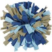 Lief! Snuffelmat Fleece - Blauw/Taupe - 20 x 20 cm