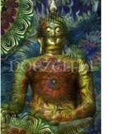 Flower Boeddha – Diamond Painting 30x40  (Volledige bedekking - Vierkante steentjes)