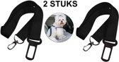 Autoriem hond – autogordel voor huisdieren – auto veiligheidsgordel dier – gordel riem – zwart – one size – verstelbaar