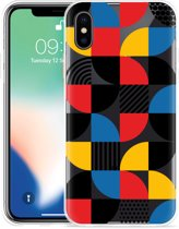 Apple iPhone Xs Hoesje Abstract Pattern