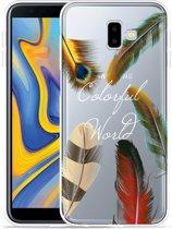 Galaxy J6 Plus Hoesje Feathers World