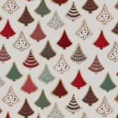 Kerst Tafelzeil 160cm Ø  Kerstboom Rood