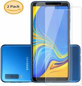 2 stuks Glass Screenprotector - Tempered Glass voor Samsung Galaxy A7 2018
