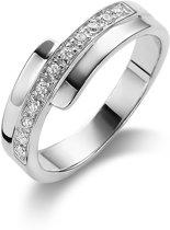 Twice As Nice ring in zilver, 11 zirkonia Wit 62