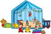 Studio 100 Bumba speeldoos tent met 10 houten figuren