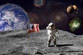 Papermoon Moon Vlies Fotobehang 200x149cm 4-Banen