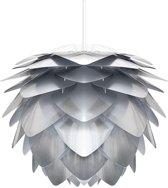 Umage Silvia hanglamp zilver - Medium Ø 50 cm + Koordset wit
