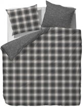 Marc O'Polo Winter Check Dekbedovertrek - Flanel - 150x210 + 50x60 cm - Antraciet