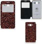 Samsung Galaxy Grand Prime Hoes Koffiebonen met Venster