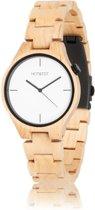 HOT&TOT Yale - Houten horloge - Beige - Wit - ø 40 mm