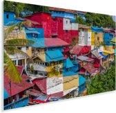 Kleurrijke huizen bij Yogyakarta in Indonesië Plexiglas 120x80 cm - Foto print op Glas (Plexiglas wanddecoratie)