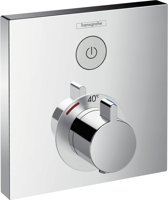 hansgrohe showerselect afbouwdeel voor inbouwkraan thermostatisch met 1 stopkraan chroom 15762000