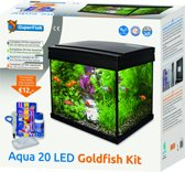 SuperFish Aqua 20 Goldfish Kid LED Aquarium - Zwart - 20L - 36 x 23 x 23.3  cm