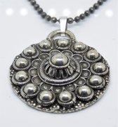Zeeuws  Meisje-ZKH056-Hanger met ketting-Zeeuwse knop bloemvorm