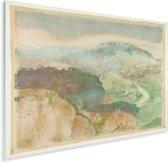 Landscape - Schilderij van Edgar Degas Plexiglas 160x120 cm - Foto print op Glas (Plexiglas wanddecoratie) XXL / Groot formaat!