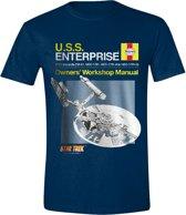 Star Trek - Haynes Enterprise Mannen T-Shirt - Blauw - M