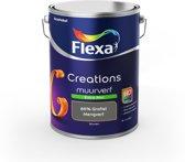 Flexa Creations Muurverf - Extra Mat - Mengkleuren Collectie - 85% Grafiet  - 5 liter