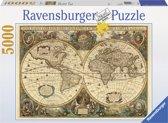 Ravensburger puzzel Antieke wereldkaart - Legpuzzel - 5000 stukjes