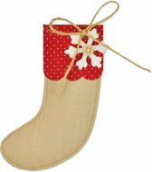 Sizzix snijmal, afm 13,5x8 cm, Christmas stocking, 1stuk