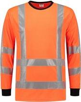 Tricorp T-shirt RWS Birdseye Lange Mouw 103002 Fluor Oranje  - Maat M
