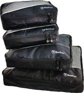 Beefree Koffer organiser 4-delig Zwart, formaat handbagage | Travel bag | Reis organizer | Opgeruimde koffer | Kledinghoes | Reistas