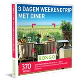 Bongo Bon Nederland - 3 Dagen Weekendtrip met Diner Cadeaubon - Cadeaukaart cadeau voor koppels | 370  hotels in de stad of midden in de natuur