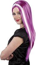 Pruik heks Aurora icy purple