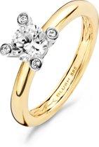 Blush Ring 1122BZI -  Geel en Wit Goud (14Krt.) met Zirconia