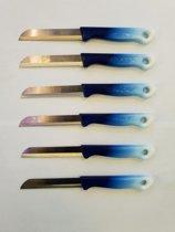 Solingen - schilmes superscherp met kartel blauw(6x)
