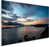 Schemerig Isla del Sol Bolivia geboorteplaats zonnegod Inti Plexiglas 90x60 cm - Foto print op Glas (Plexiglas wanddecoratie)