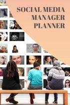 Social Media Planner: Notebook for Social Media Managers, Diary, Gift, 160 pages, Grid Dot Pages, 6 x 9.