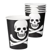48 stuks: Set 6 Bekertjes Piraat - 25cl