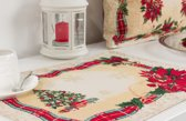 Placemat - luxe gobelin - Kerst Ribbon - Serie - Christmas