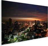 Avond skyline van Curitiba in Brazilië Plexiglas 120x80 cm - Foto print op Glas (Plexiglas wanddecoratie)
