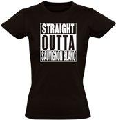 Straight outta Sauvignon Blanc dames t-shirt   vrouw   grappig   wijn   cadeau   maat S
