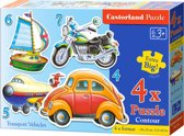 Transport Vehicles puzzel 4-in-1