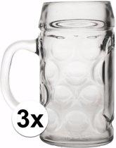 Oktoberfest - Bierpullen 0,4 liter 3 stuks