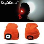 BrightBeanie™ muts met twee oplaadbare LED Lampen - Unisex - One Size